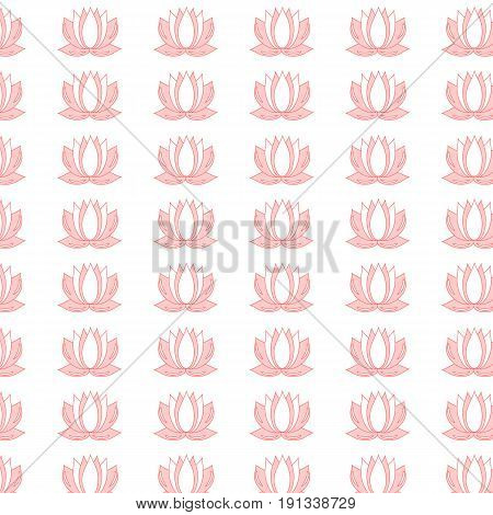 Lotus flower pattern. Seamless background of lotus flower vector pattern for web.