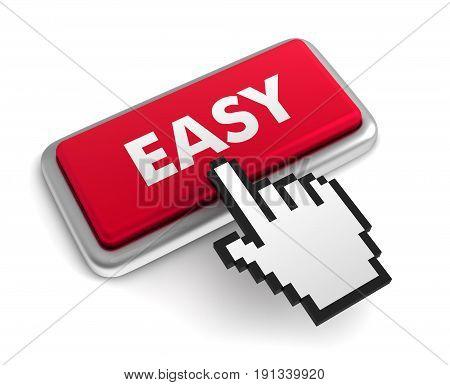 Easy Keyboard Concept  3D Illustration