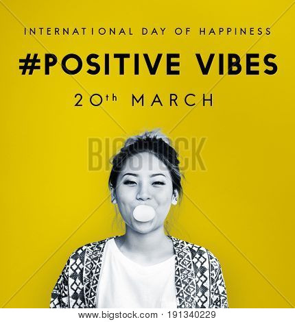 Happy International Day Of Happiness Concept