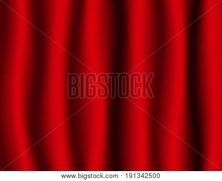 Beautiful Red Drapery Silk textile Background. Illustration.