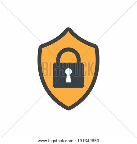 Privacy mode icon with security feature and lock