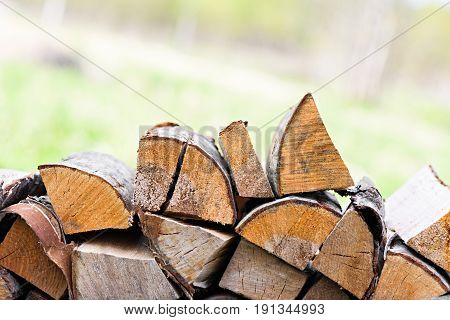 A Chopped Fire Wood Stacked Neatly On Top Of Each Other, Background