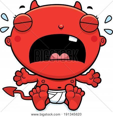 Cartoon Baby Devil Crying