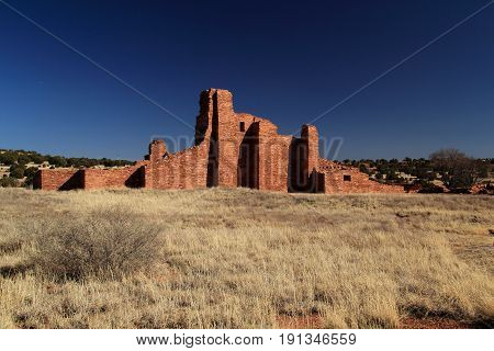 Abo Ruins at Salinas National Monument in the State of New Mexico
