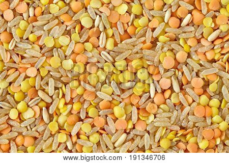 Mix Of Rice, Lentils And Oats