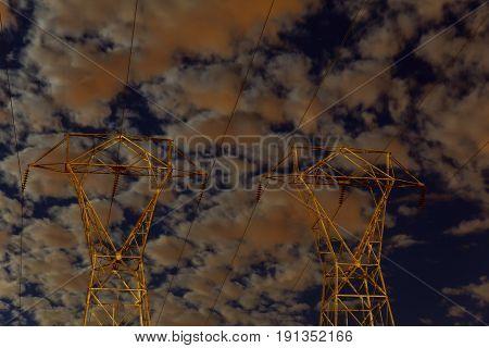 CLOUD NIGHT SKY Beautiful storm sky with clouds, apocalypse like