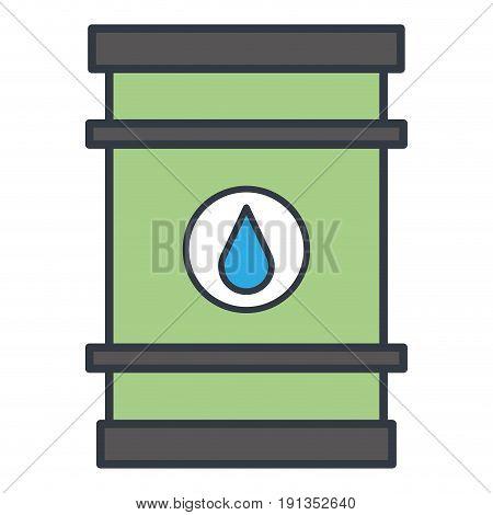 oil barrel isolated icon vector illustration design