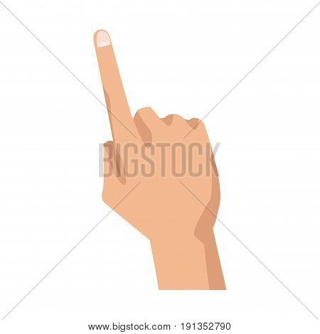 human hand pointing finger gesture vector illustration