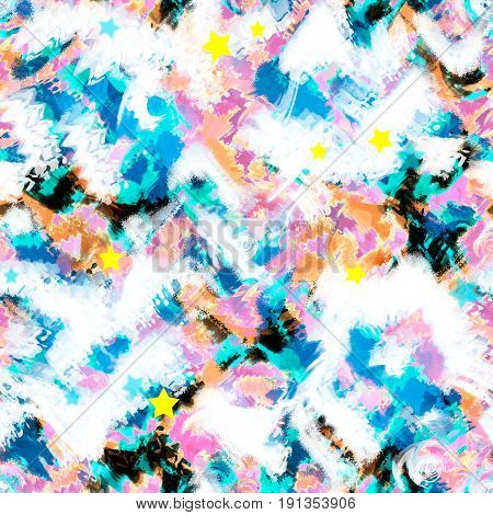 Art splash brush strokes paint abstract seamless pattern print background
