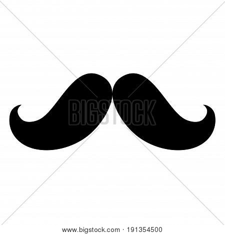 gentleman mustache isolated icon vector illustration design