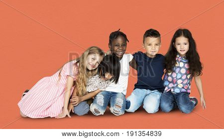 Diverse Group of People Hug Each Other
