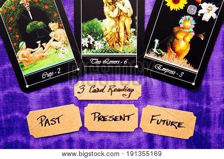 Tarot Deck - Past, Present And Future Tarot Readings