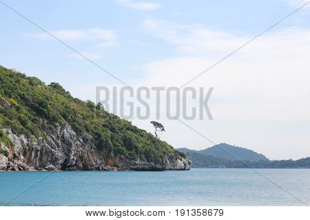 Island and sea landscapes of Ko Sichang in Chonburi provinceFamous tourist attractions in Thailand.