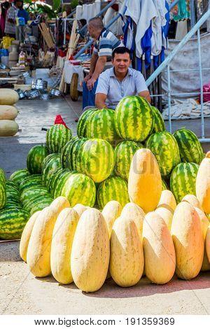 Man Selling Watermelons, Uzbekistan