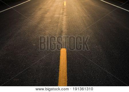 Asphalt road texture background, Asphalt line yellow.