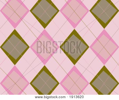 Funky Brown And Pink Argyle Background