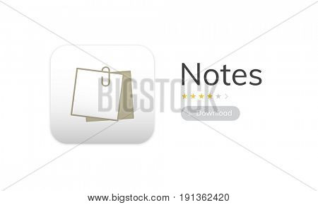 Illustration of personal organizer notes