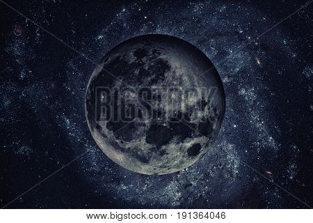 Solar System - Earths Moon. The Moon Is Earth's Only Natural Satellite.