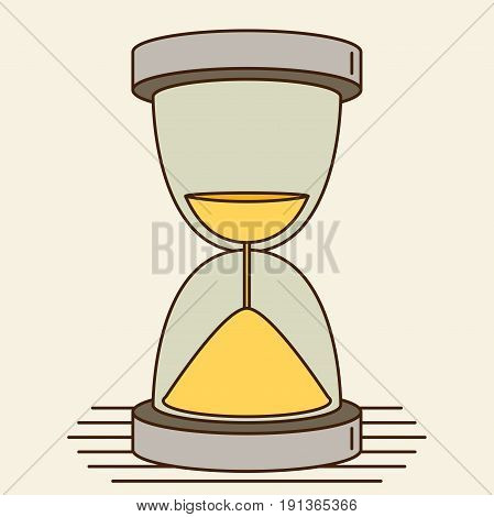Vector Hourglass icon for web or design