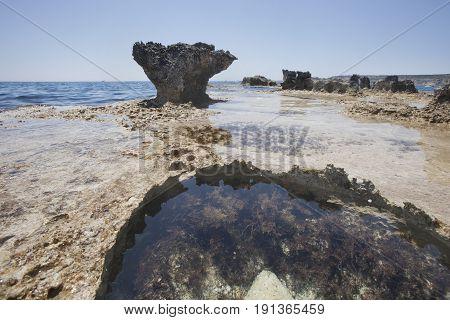 Sea Coast Near Cyclop's Cave. Landscape