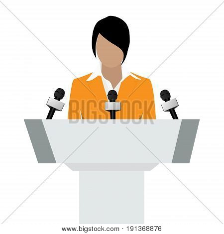 Woman Speaker Vector