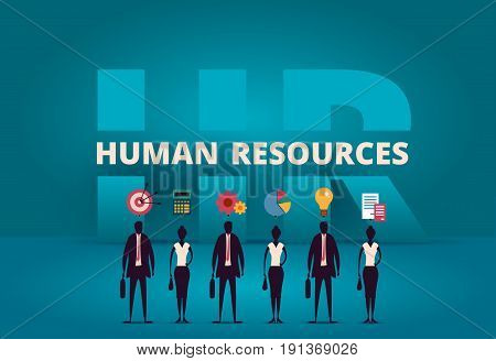 Business Hr Concept. Human Resources Manager Hiring Employee Or Workers For Job. Recruiting Staff In