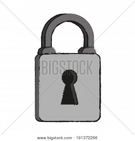 Locked padlock accessory icon vector illustration design graphic draw