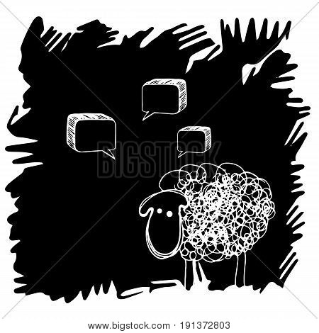 lamb sheep vector animal illustration cute farm wool mammal white nature cartoon