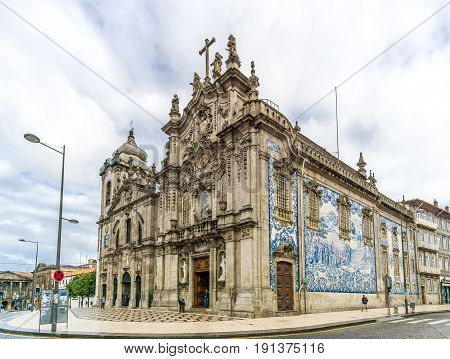 PORTO,PORTUGAL - MAY 13,2017 - View at the churches Carmelitas and Carmo in Porto. Porto is one of the oldest European centres and its historical core was proclaimed a World Heritage Site by UNESCO in 1996.