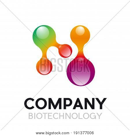 Vector abstract biotechnology concept on white background