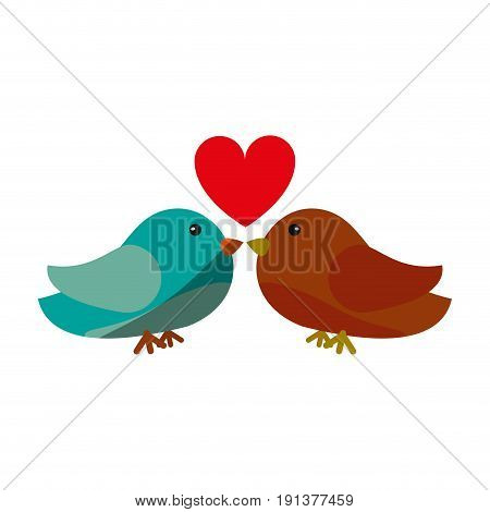 lovebirds romantic valentines day icon image vector illustration design