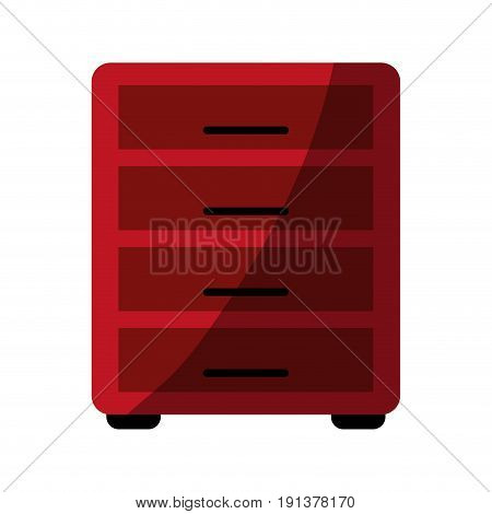 archive drawers office supplies related icon image vector illustration design