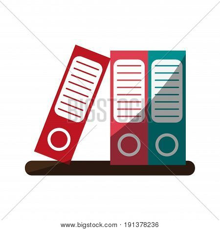 archive folders office supplies related icon image vector illustration design