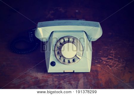 Retro Background With Rotary Telephone