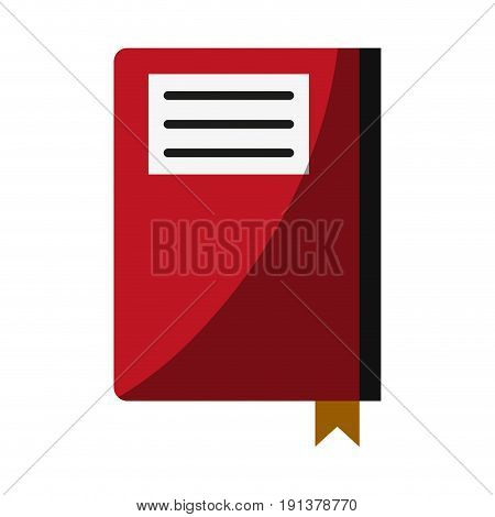 notebook with page marker icon image vector illustration design
