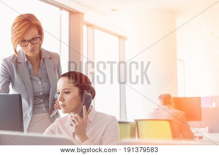 Young businesswomen working in office