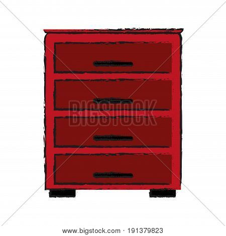 archive drawers office supplies related icon image vector illustration design  sketch style