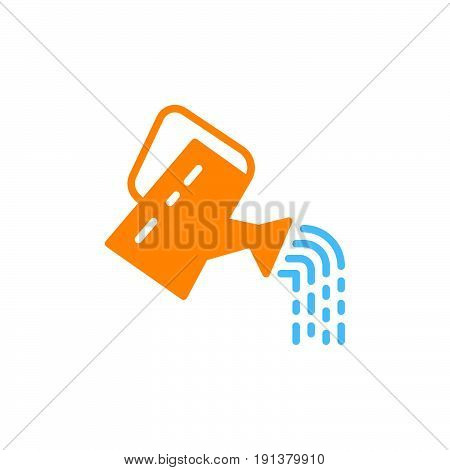 Watering can icon vector filled flat sign solid colorful pictogram. Symbol logo illustration