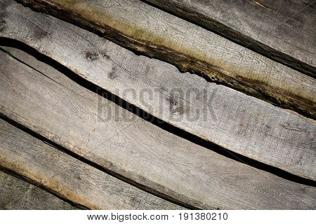 wooden planks wall - abstract background