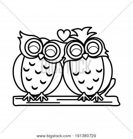 lovebirds romantic valentines day icon image vector illustration design  black line