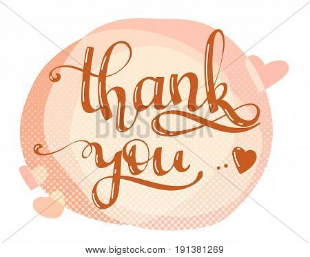 thank you lettering quote hand writing vector lettering quote