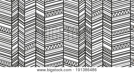 Trendy simple seamless zigzag pattern. Tribal vector seamless pattern. Aztec fancy abstract geometric art print. Ethnic hipster background.