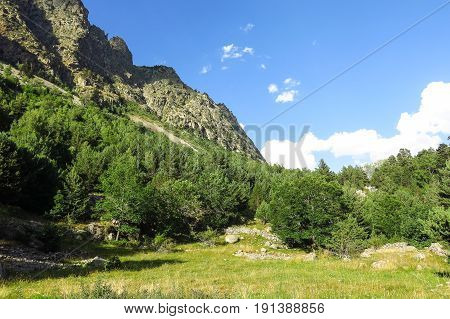 Aigüestortes National Park In The Catalan Pyrenees, Spain