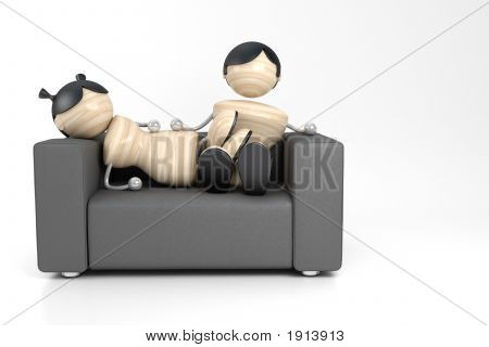 Couple And Sofa
