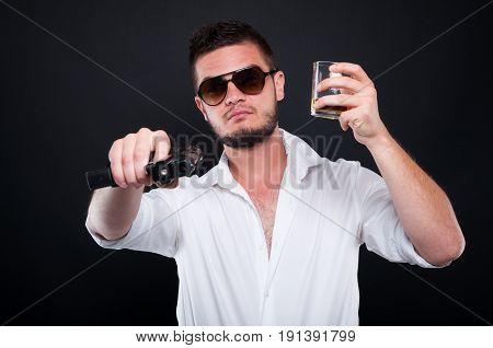 Mafia Boss Aiming Gun At You