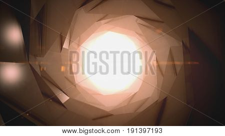 3D Illustration Abstract Science Fiction Futuristic Background - Space Travel - Teleport