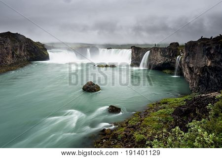 Beautifull Godafoss Waterfall In Iceland