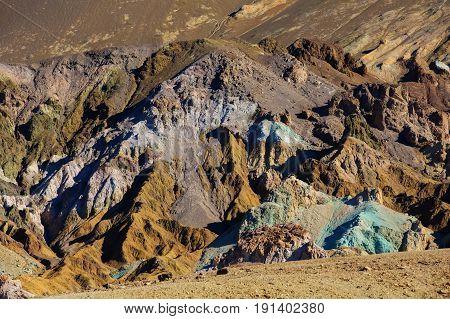 Artist's Palette landmark place in Death Valley National Park California USA