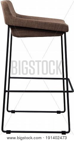 tall brown bar stool isolated on white. Modern designer Bar chair