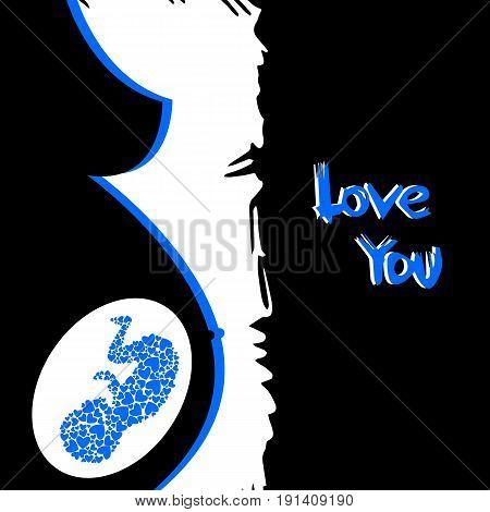 vector pregnant female girl silhouette pregnant life